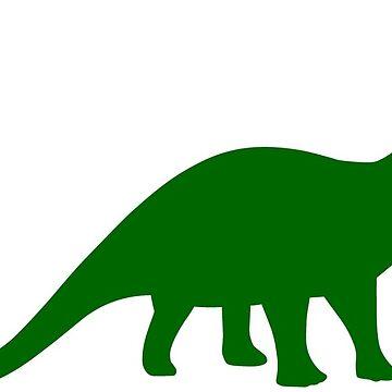 Brontosaurus / Apatosaurus Dinosaur by sweetsixty