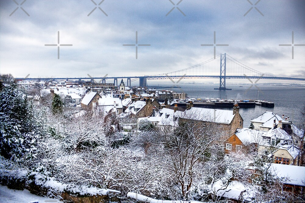 South Queensferry in the Snow by Tom Gomez