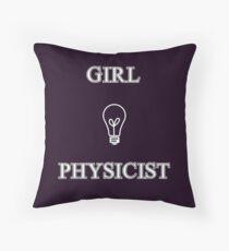 Girl Physicist Throw Pillow