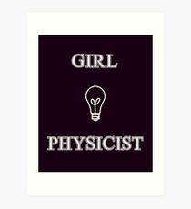 Girl Physicist Art Print