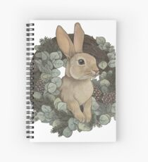 Winter Rabbit Spiral Notebook