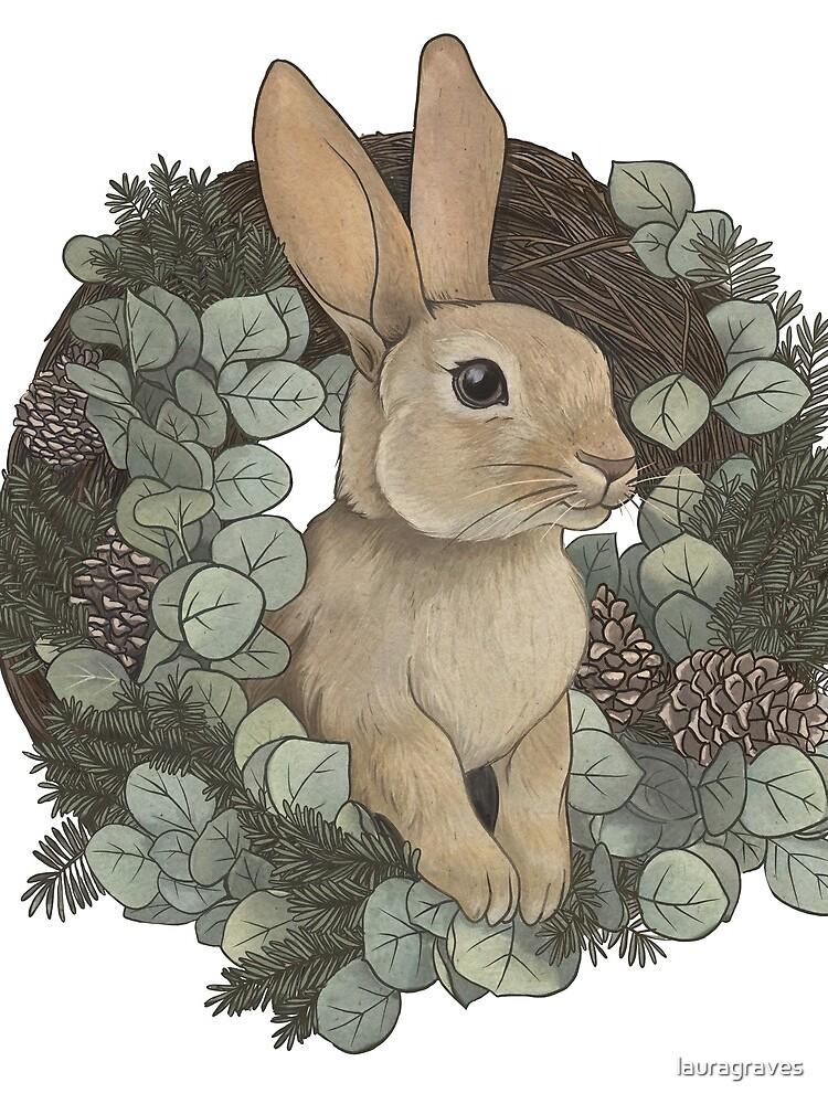 Winter Rabbit by lauragraves