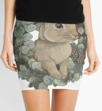 Winter Rabbit Mini Skirt