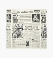 Historic Moon Landing Newspaper Headlines Scarf