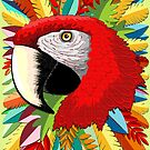 Macaw Parrot Paper Craft  by BluedarkArt