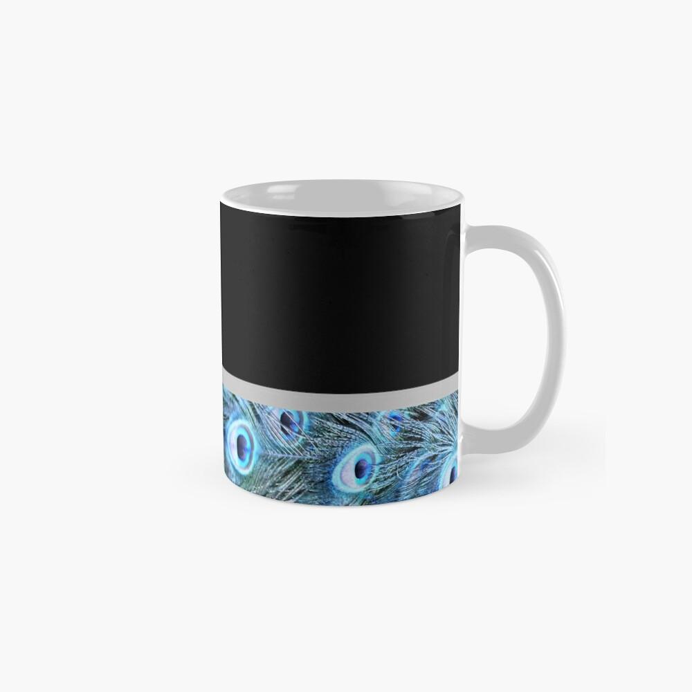 Peacock border Mug