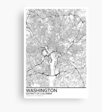 Washington map poster print wall art, District of Columbia gift printable, Home and Nursery, Modern map decor for office, Map Art, Map Gifts Canvas Print