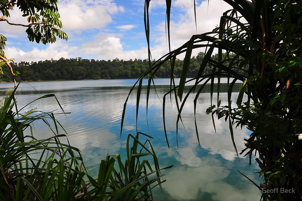 Lake Eacham Reflections by Geoff Beck