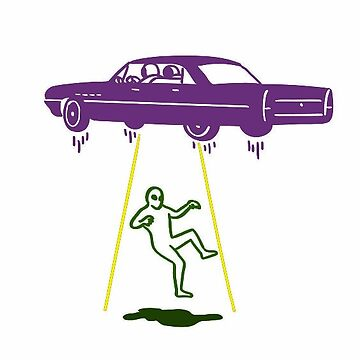 alien abducting car by FernandoDuarte