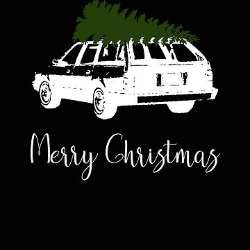 Merry Christams Station Wagon With Christmas Tree on Top by stacyanne324