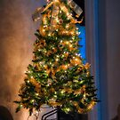 Christmas Tree In Progress by TJ Baccari Photography