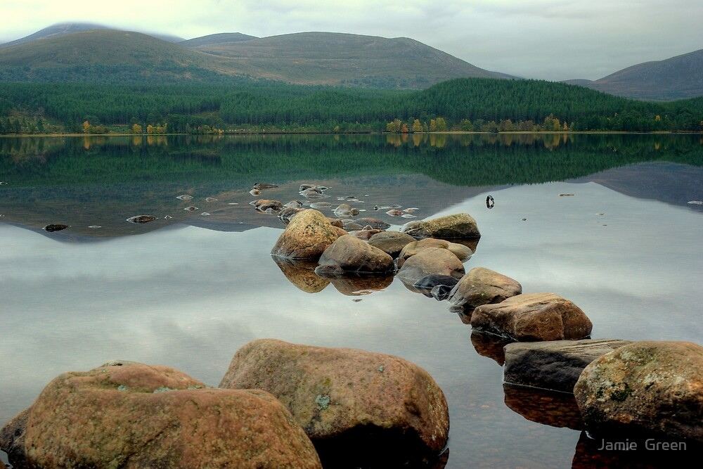 Rocks in the Loch by Jamie  Green