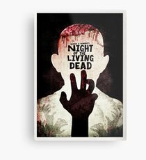 Night of the Living Dead - Minimal Poster Design Metal Print