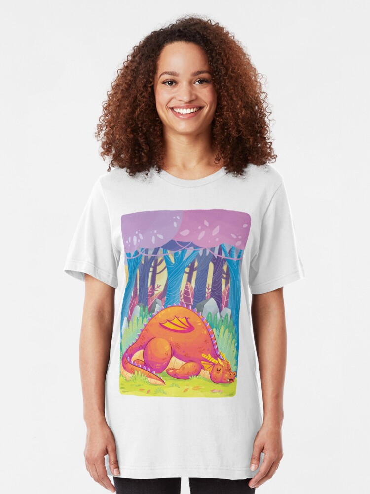 Alternate view of Sleepy dragon is le tired Slim Fit T-Shirt