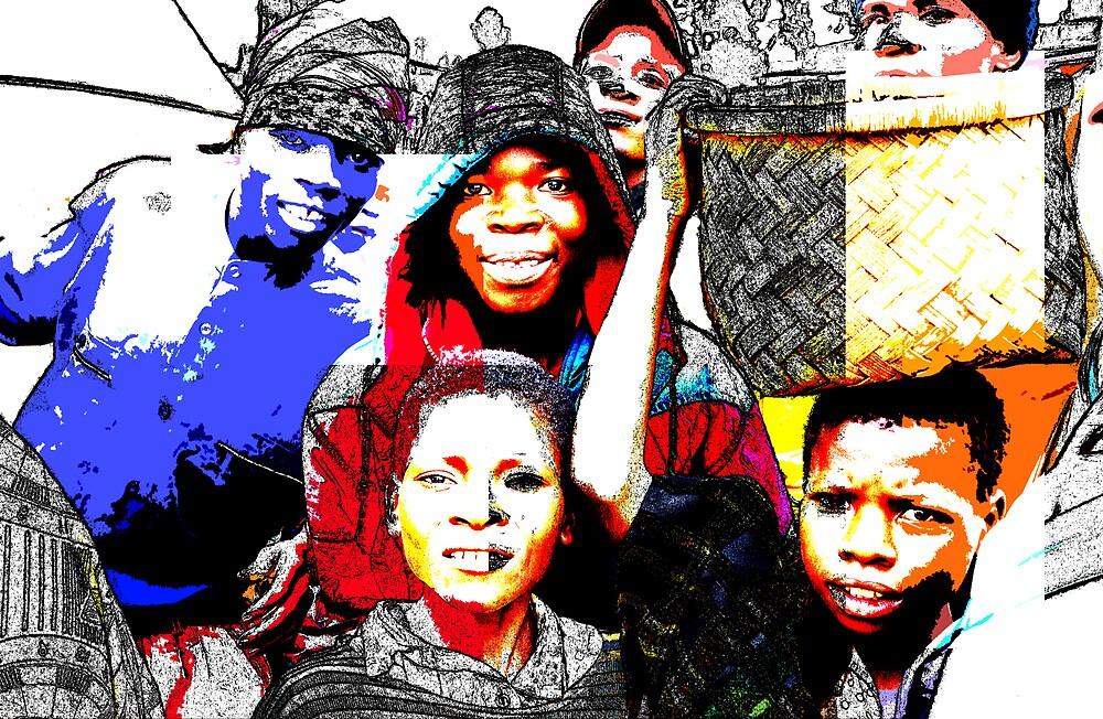 Malawian kids 01 by Mick Yates