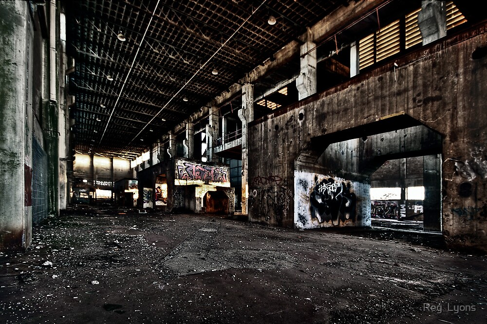 Industrial Sunrise by Reg  Lyons
