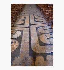 Chartres cathedral labyrinth Photographic Print