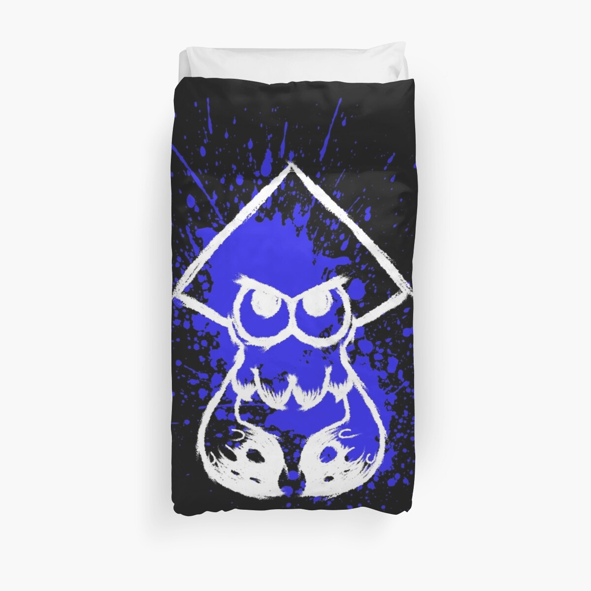 Quot Splatoon White Squid On Blue Splatter Quot Duvet Covers By