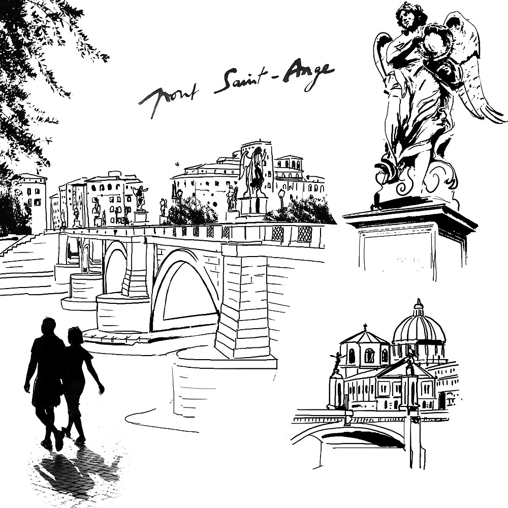 Roma, Ponte Saint Angel by Roger Patrice