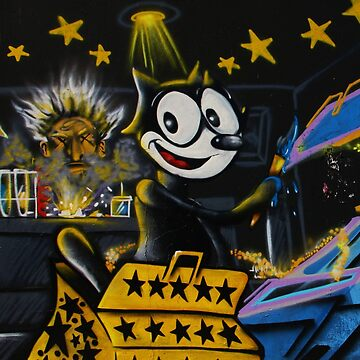 Felix the Cat - Graffiti painting 2nd Saturday by hellfinger