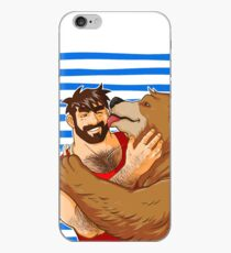 BEAR KISS - SAILOR STRIPES iPhone Case