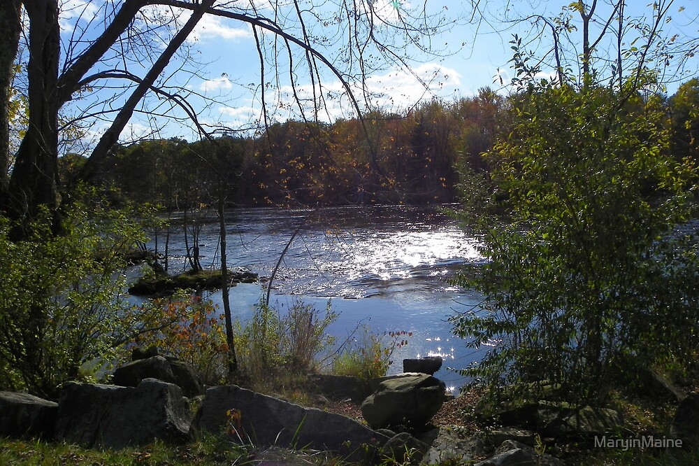 Saco River in Buxton,  Maine by MaryinMaine