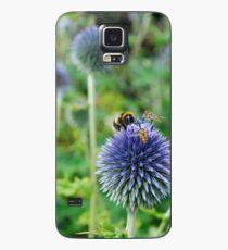 The Buzz in the Garden Blue Globe Flowers Case/Skin for Samsung Galaxy