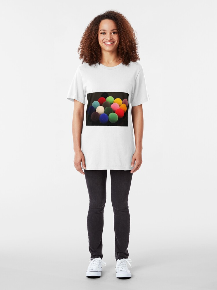 Alternate view of Christmas Snooker Slim Fit T-Shirt
