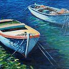 Boats on Adriatic Sea by IvanaKada
