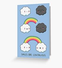 Smiles are contagious Greeting Card