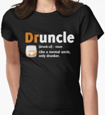 Drunkle shirt Druncle t shirt Women's Fitted T-Shirt