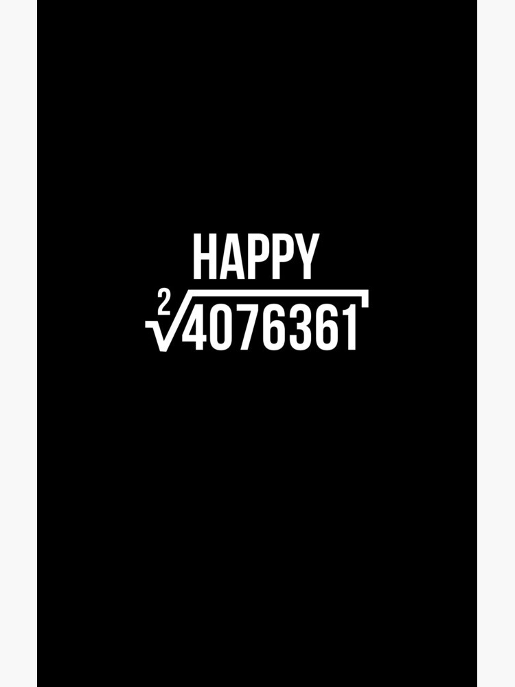Square Root of 4076361 Happy 2019 Tee New Years Eve T-Shirt by davdmark