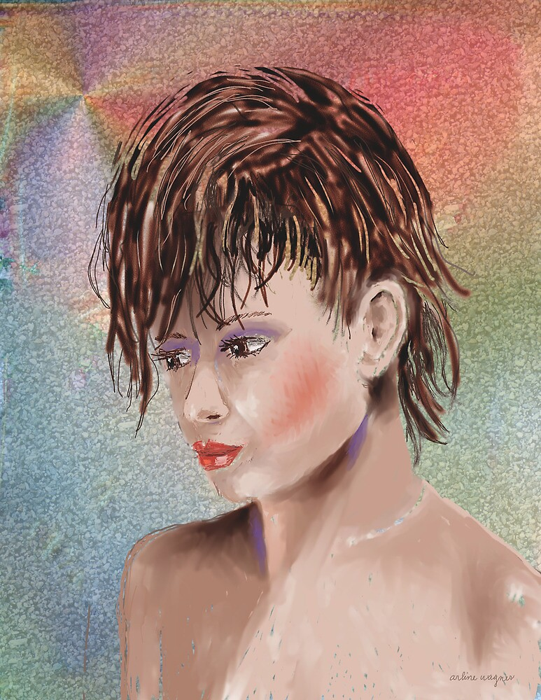 Hairstyle Of Many Colors by arline wagner