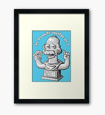 Homere donuts philosophy Framed Print