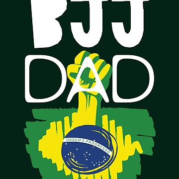 Fathers Day Shirt BJJ Brazilian Jiu Jitsu Gift For Dad by artbyanave