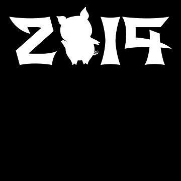 2019 Year Of The Pig Tee Chinese New Year 2019 T Shirt by davdmark