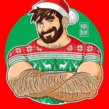 ADAM LIKES CROSSING ARMS AT XMAS PARTIES - DESIGN FOR RED TEE by bobobear