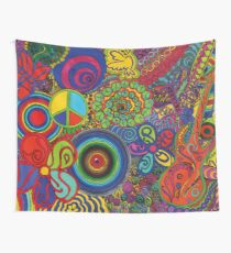 Psychedelic peace Wall Tapestry