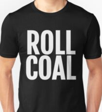 Roll Coal Large Text Diesel Power Fuel Slim Fit T-Shirt