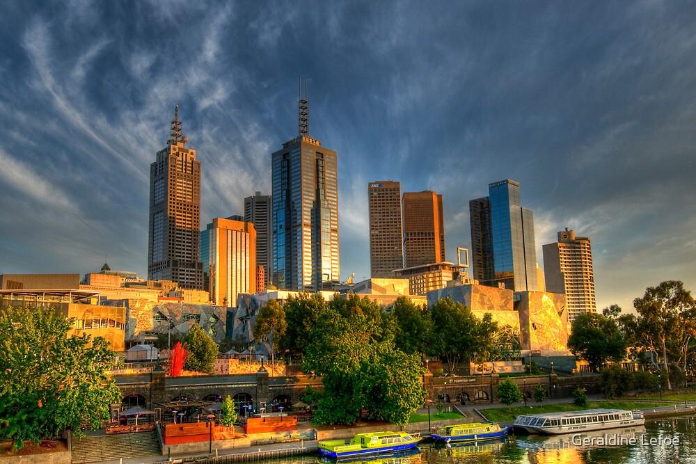In the city, Melbourne  by Geraldine Lefoe