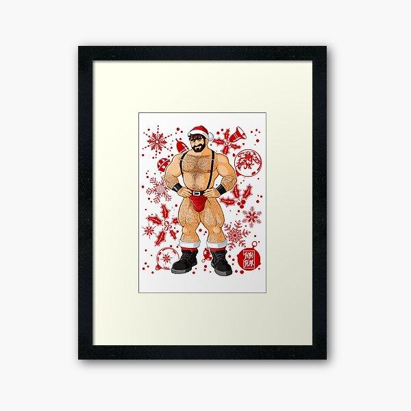 ADAM LIKES SANTA - RED XMAS Framed Art Print
