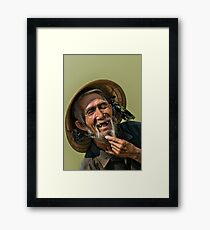 Still smiling after all this time Framed Print