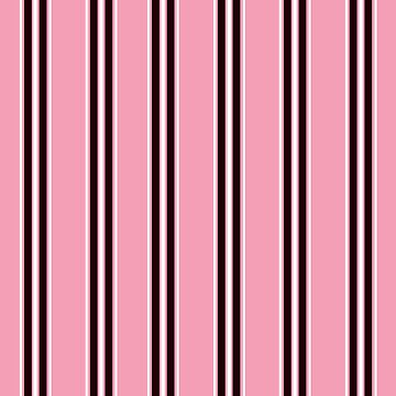 Pink Pattern with Black and White Stripes by PerfectDisguise