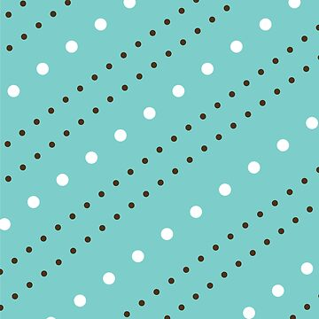Teal with Brown and White Diagonal Polka Dots  by PerfectDisguise