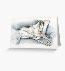 Sleeping Greyhound Greeting Card