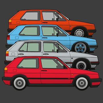 Golf MK2s by fozzilized