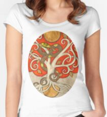Serpent Tree Tee Women's Fitted Scoop T-Shirt