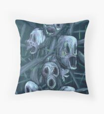 Floral Hellscape II Throw Pillow