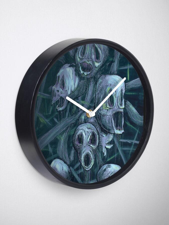 Alternate view of Floral Hellscape II Clock
