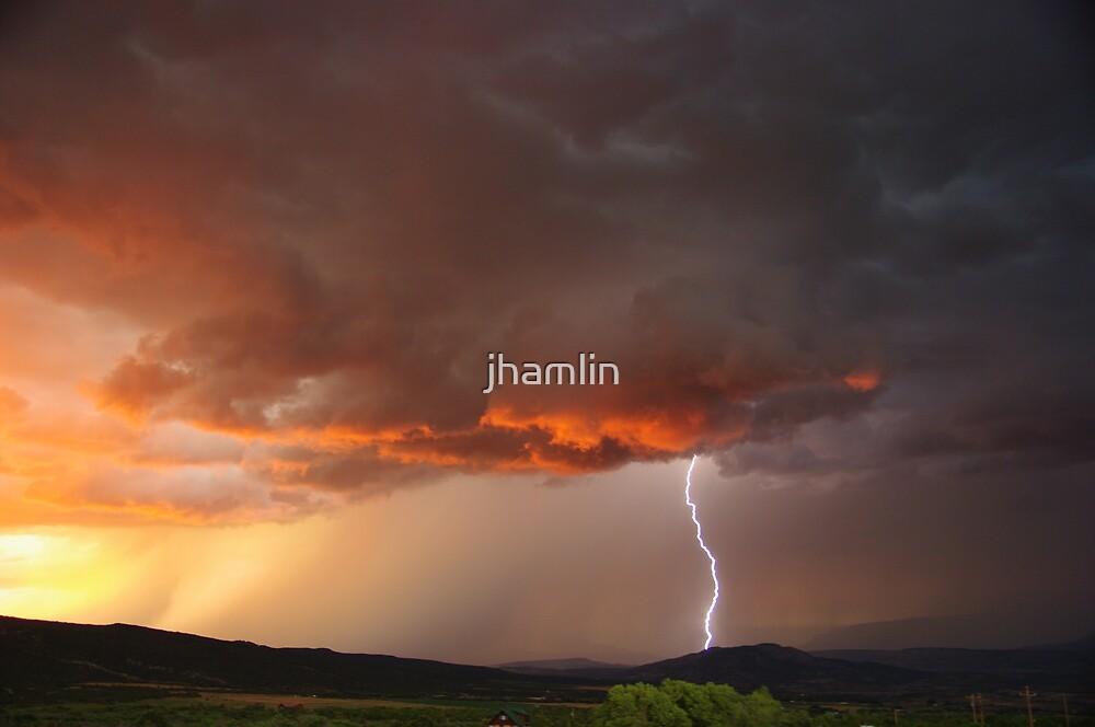 Lightning over Mesa, Colorado USA by jhamlin